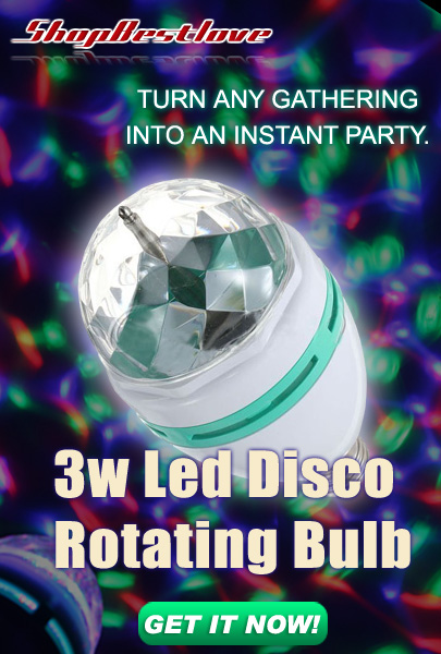 shop best love 3w Led Disco Rotating Bulb