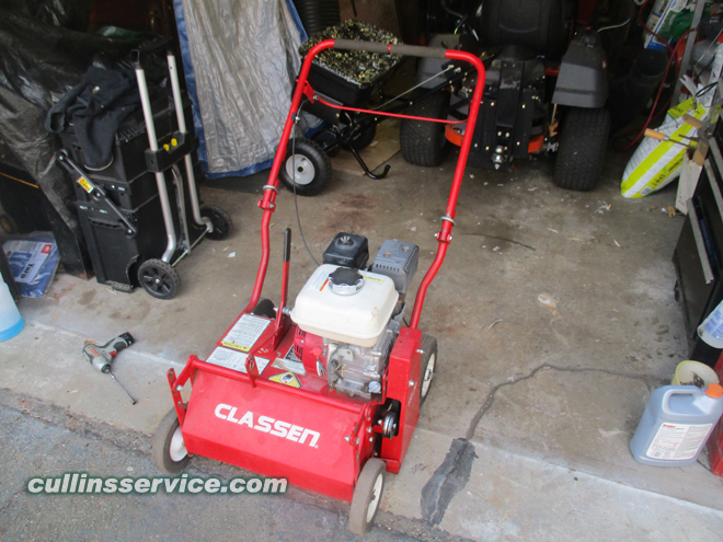 How to change blades on a overseeder Cullins Service