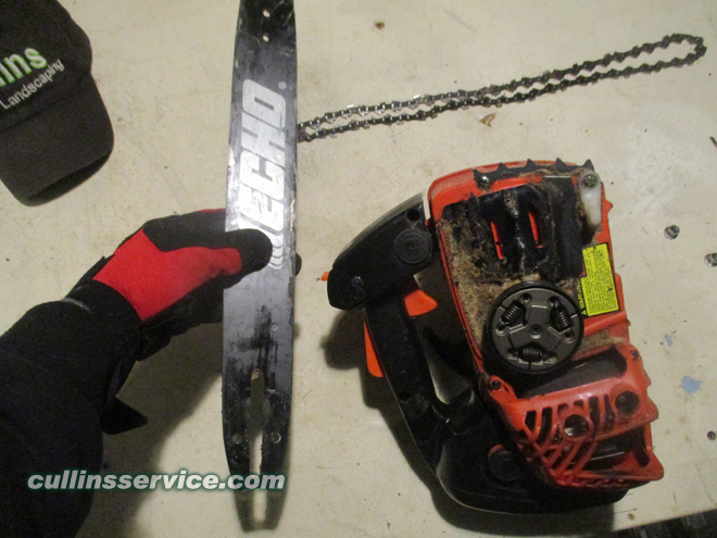 How to Sharpen a Chainsaw Remove the Bar Cullins Service