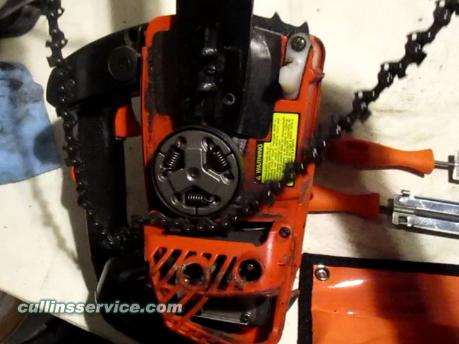 How to Sharpen a Chainsaw Remove the Chain Cullins Service