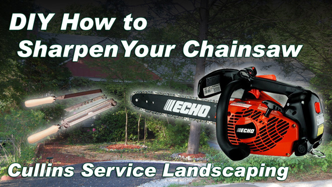 Cullins Service DIY How to Sharpen A Chainsaw, Clean and Check Depth Gauge