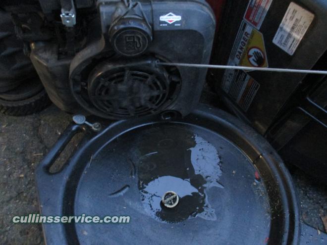 Winterize / Store Lawn Mower Drain Oil Cullins Service