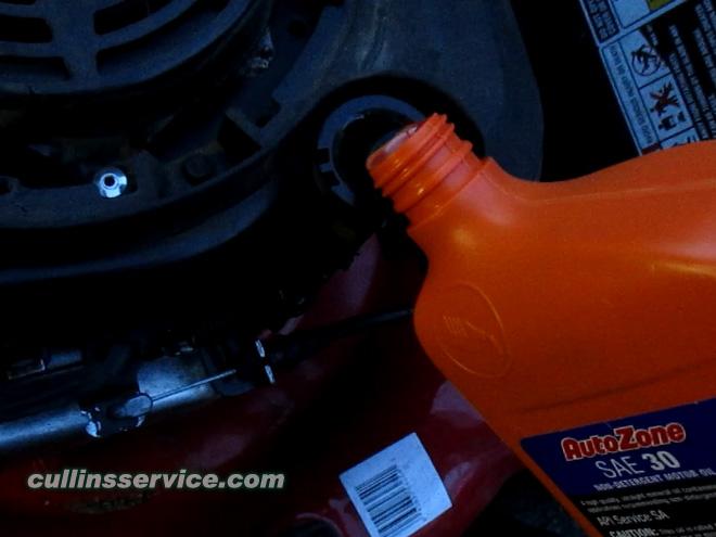 Winterize / Store Lawn Mower Fill Oil Cullins Service