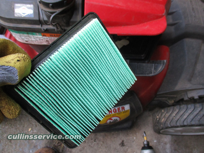 Winterize / Store Lawn Mower Inspect Air Filter Cullins Service