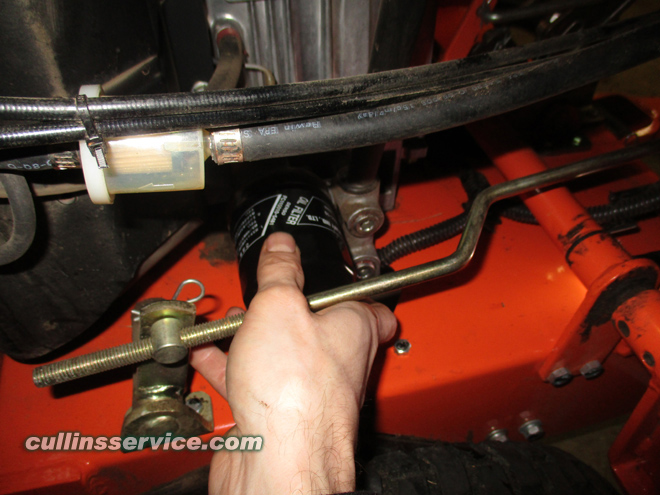 Winterize / Store Lawn Mower Install Oil Filter Cullins Service