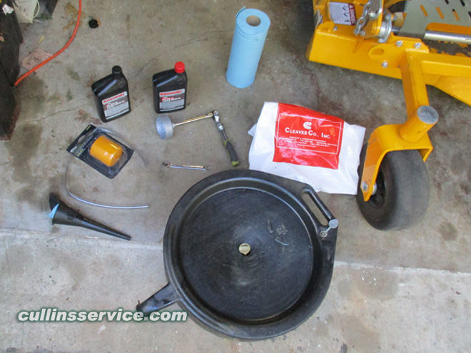 How to DIY Change oil on wright mower Cullins Service