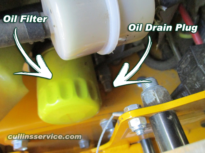 How to DIY Change oil on wright mower Attach Hose to Oil Drain Cullins Service