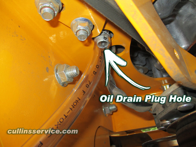 How to DIY Change oil on wright mower Locate Connect Hose Cullins Service