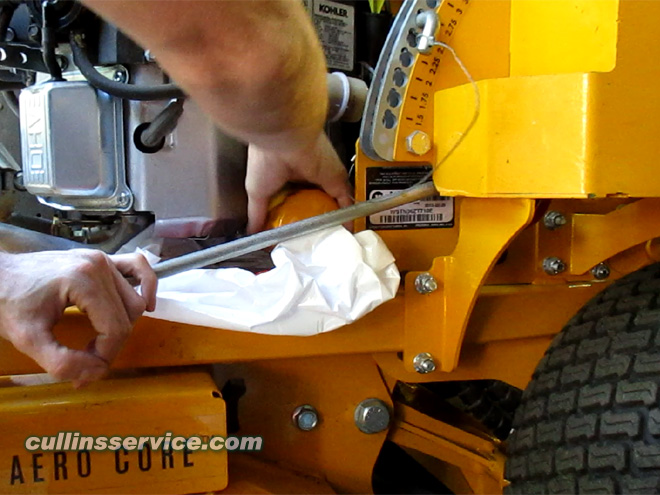How to DIY Change oil on wright mower Screw on Filter Cullins Service