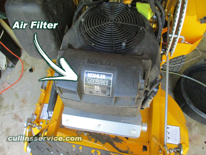 How to DIY Change oil on wright mower Clean Air Filter Cullins Service