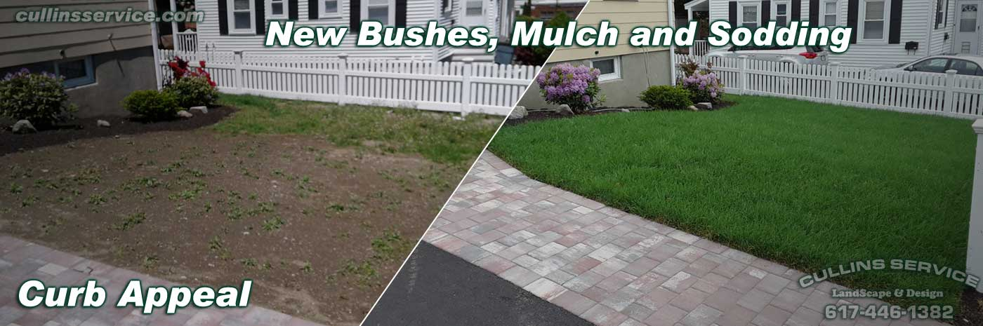 Cullins Service Curb Appeal Bushes, Mulching and sodding