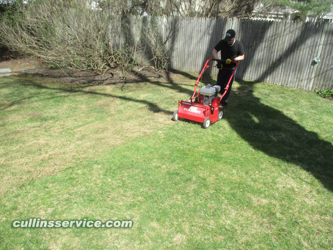 How to change blades on a overseeder Start Thatching Cullins Service