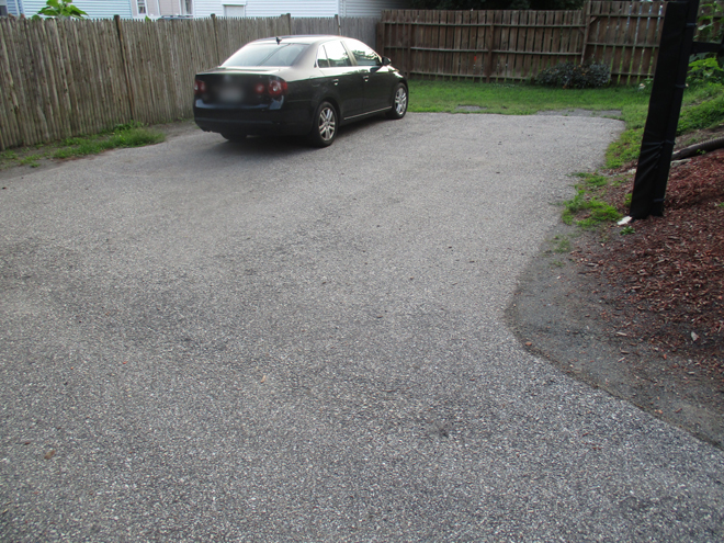 Back of driveway before Cullins Service cleans and seals it