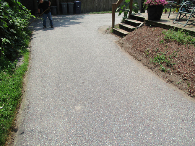 Cullins Service cleaned up some mulch off the driveway