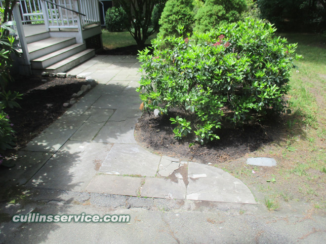 Cullins Service cleaned out these bushes, edged and mulched them