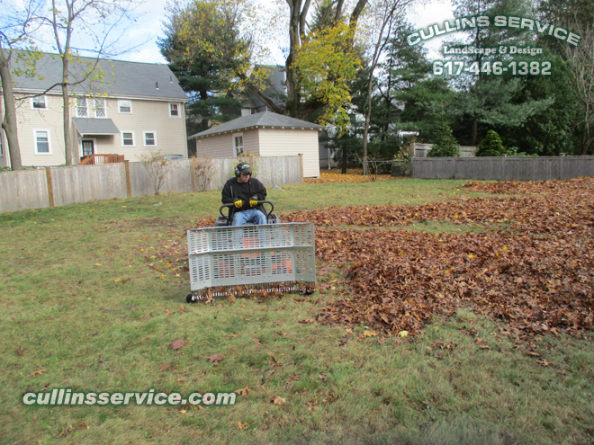 Cullins Service Leaf plow setup makes fall cleanup removing leaves easier