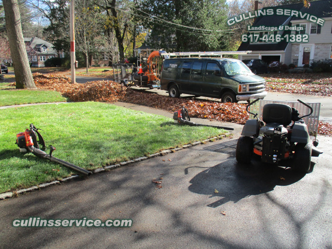 Cullins Service leaf removal service equipment for the job
