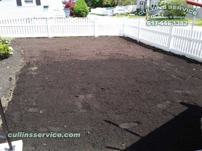 Now we put down some fertilizer and adjust the pH and wait for the sod.