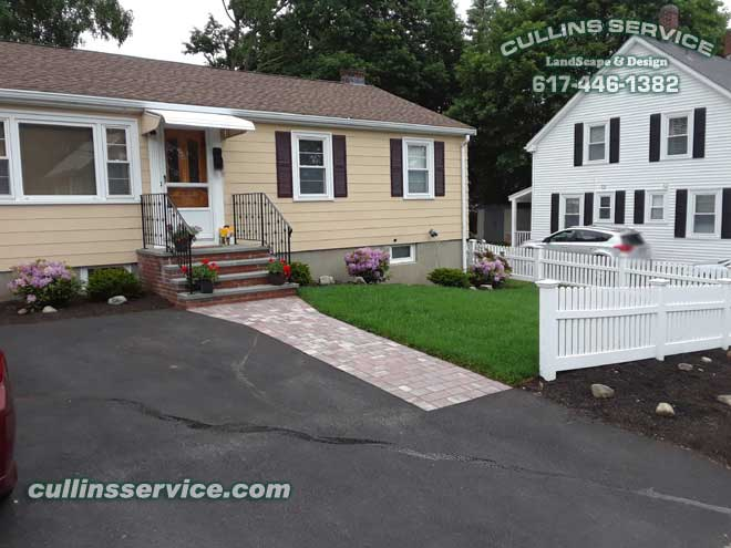 Cullins Service Landscape Renovation Adding Curb Appeal Bush Removal Planting Mulch sod installation