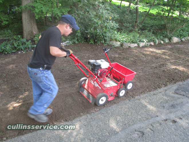 We are using a Classen seeder to install this lawn