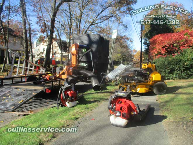 Cullins Service Leaf Removal Service Fall Cleanup Wellesley, Ma Cullins Service